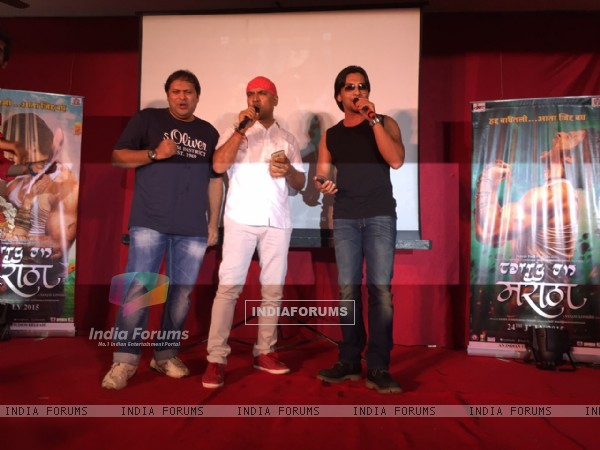 Aditya Narayan Promotes Marathi Movie 'Carry On Maratha'