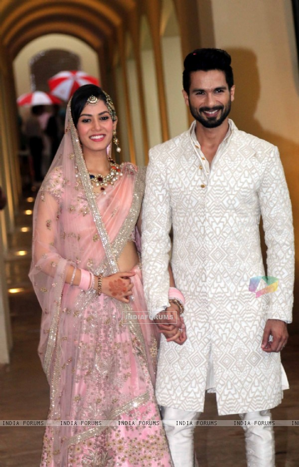 Shahid Kapoor and Mira Rajput; the newlyweds