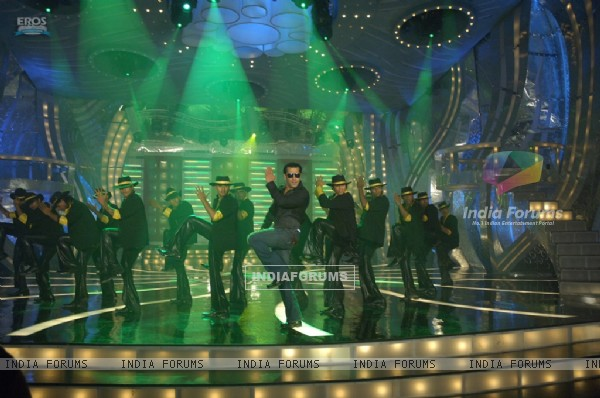 Salman Khan doing stage perfomance