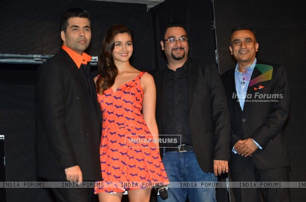 Alia Bhat and Karan Johar at Launch of Colors Infinity