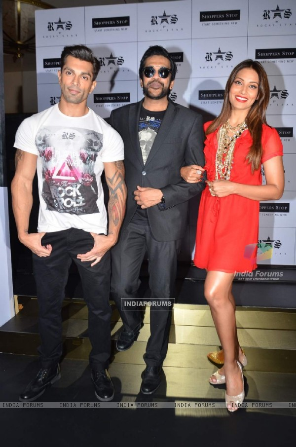 Karan Singh Grover, Rocky S and Bipasha Basu at the Launch of New Collection