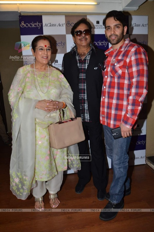 Sinha Family poses for the media at Society Magazine Cover Launch