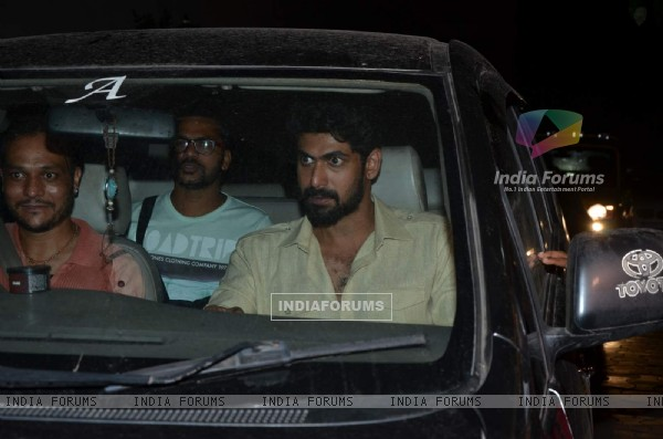 Rana Daggubati was snapped at the Special Screening of Bahubali
