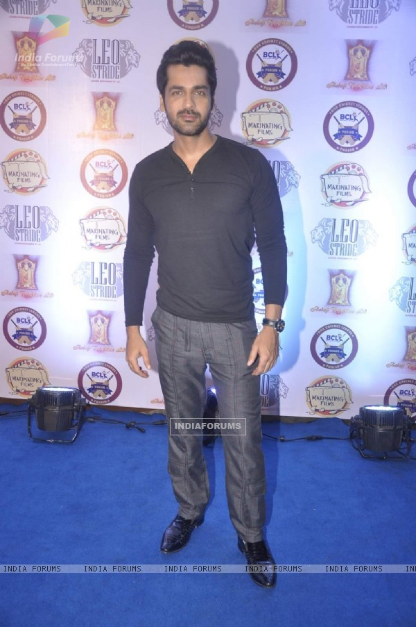 Arjan Bajwa poses for the media at the Press Meet of Box Cricket League