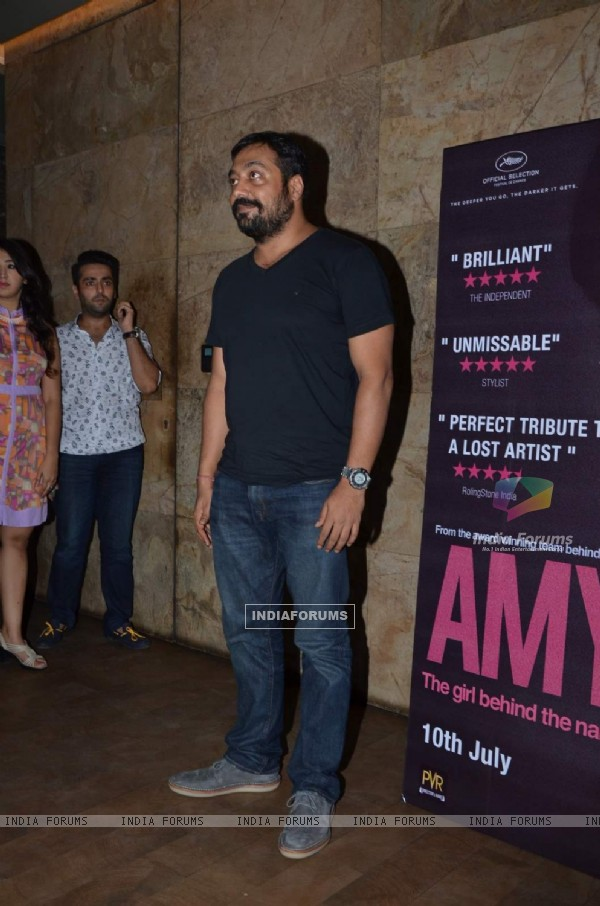Anurag Kashyap poses for the media at the Special Screening of Amy