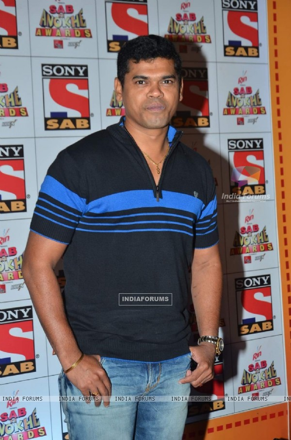 Siddharth Jadhav poses for the media at SAB Ke Anokhe Awards