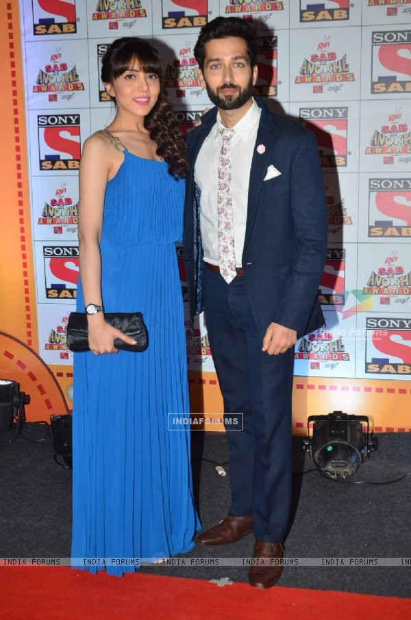 Nakuul Mehta and Jankee Parikh at SAB Ke Anokhe Awards