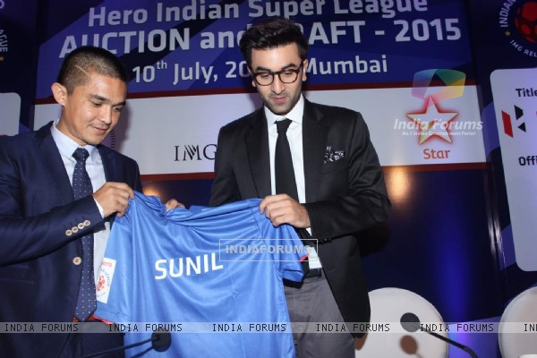 Ranbir Kapoor at the Indian Super League Auctions
