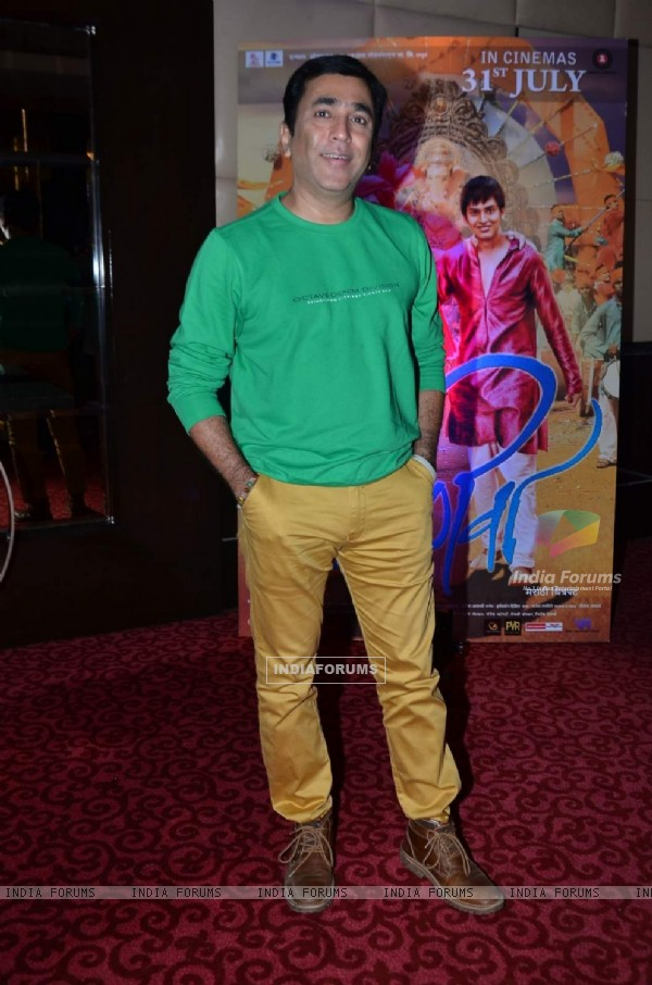 Pushkar Shotri at Promotions of Marathi Movie 'Janiva'