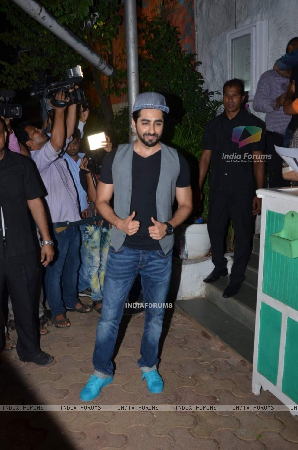 Ayushmann Khurrana at Success Bash of ABCD 2