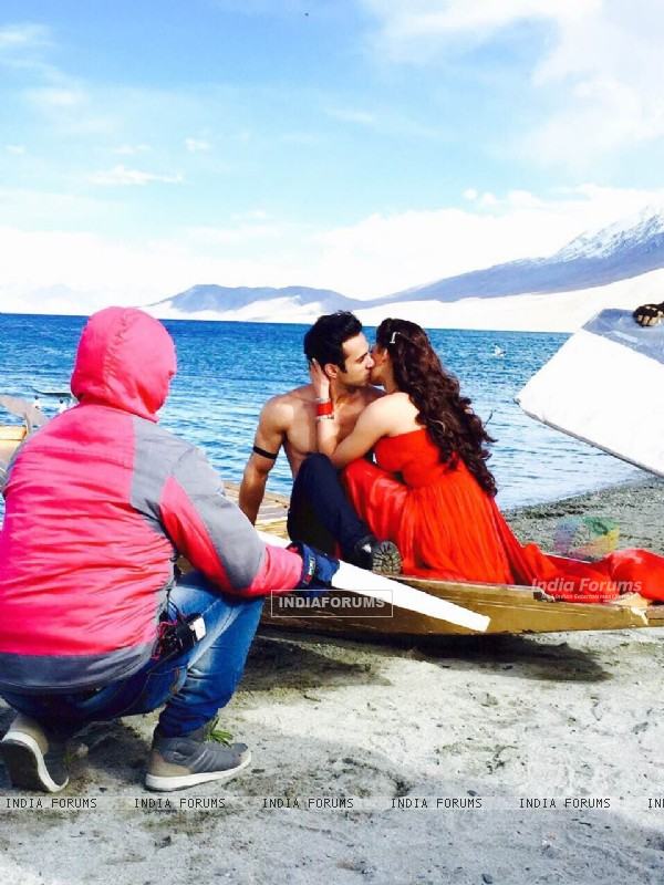 From The Sets of Sanam Re