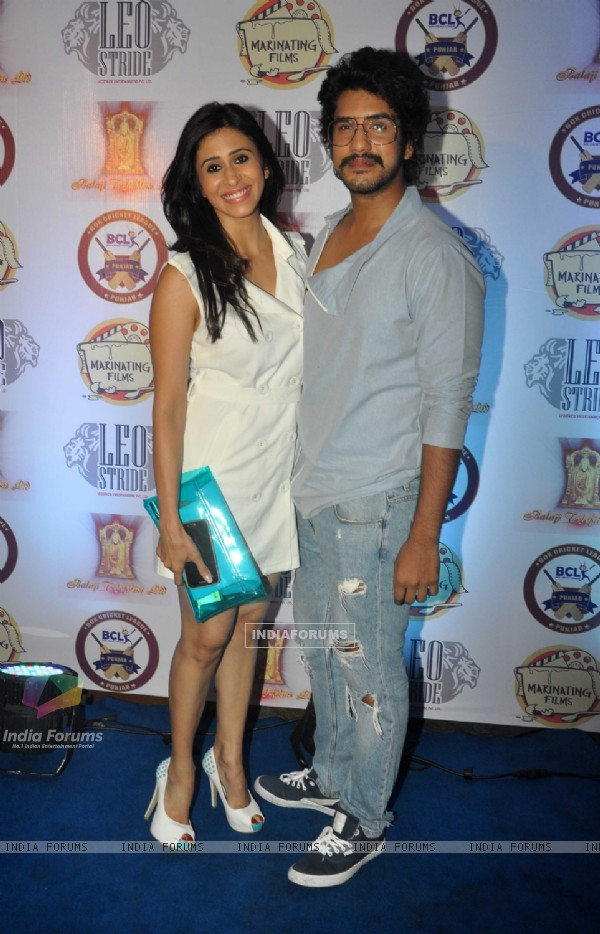 Kishwer Merchant with Suyash Kumar at Launch of Box Cricket League Punjab