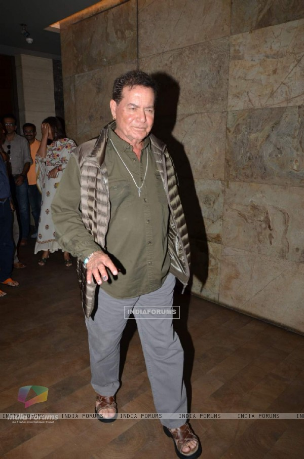 Salim Khan was snapped at the Special Screening of Bajrangi Bhaijaan