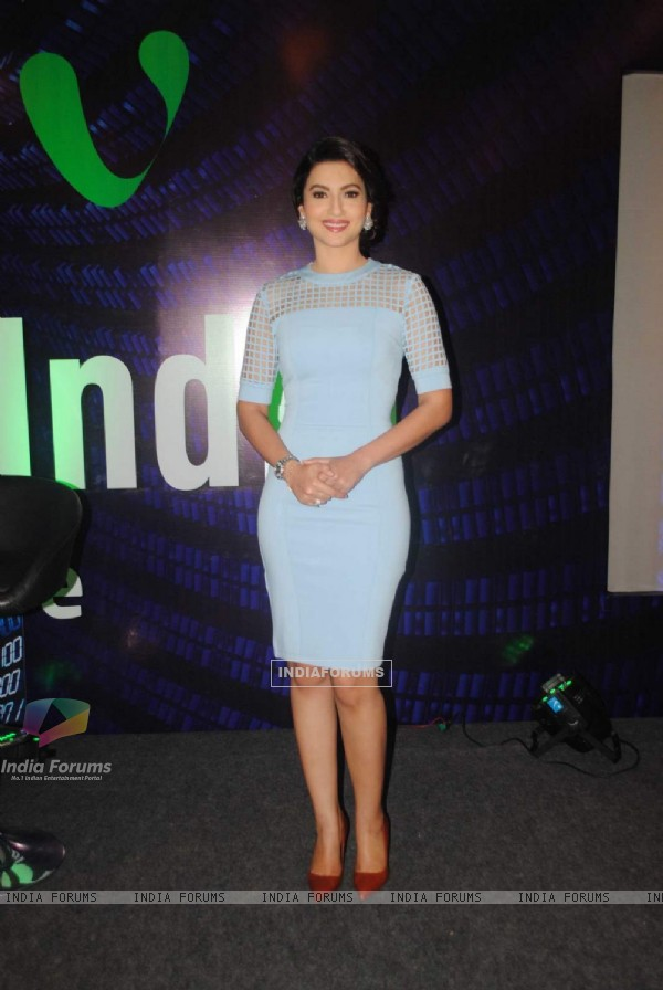 Gauahar Khan poses for the media at Videocon Event
