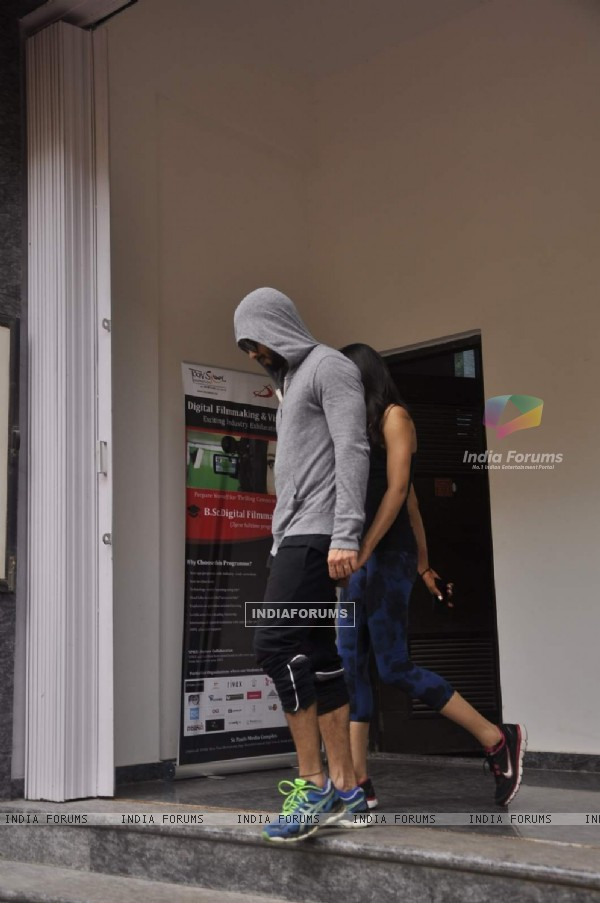 Shahid Kapoor and Mira Rajput Snapped Outside a City Gym