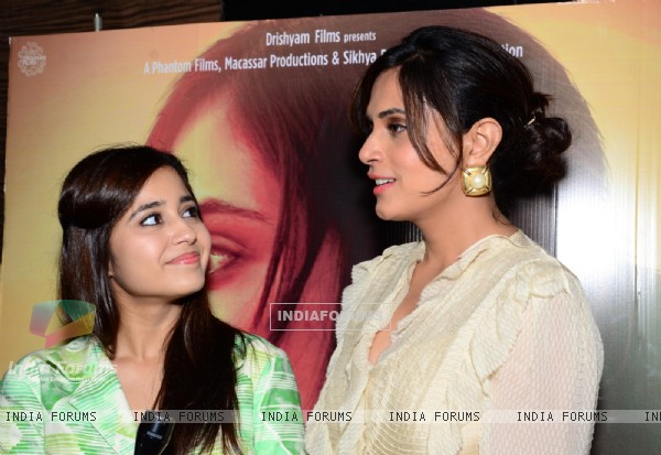 Richa Chadda and Shweta tripathi at Press Conference of Masaan