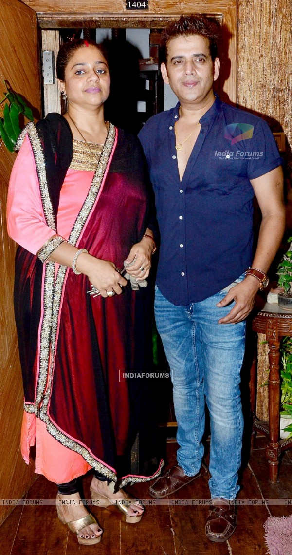 Ravi Kissen With His Wife at Birthday Bash