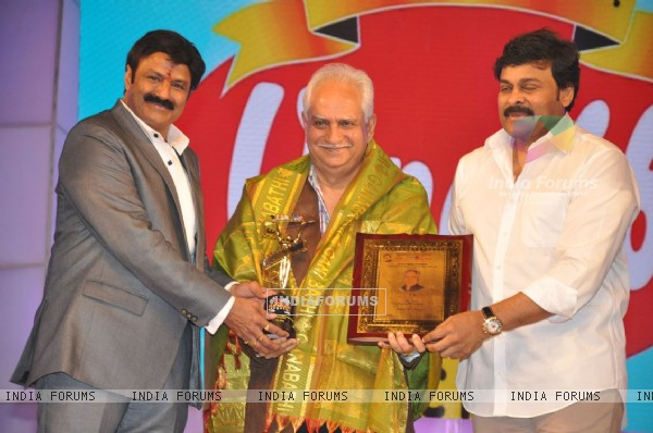 Ramesh Sippy and Chiranjeevi at TSR Tv9 National Awards