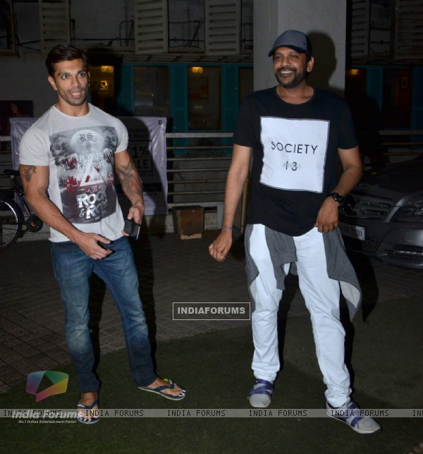 Karan Singh Grover and Rocky S Snapped in the City