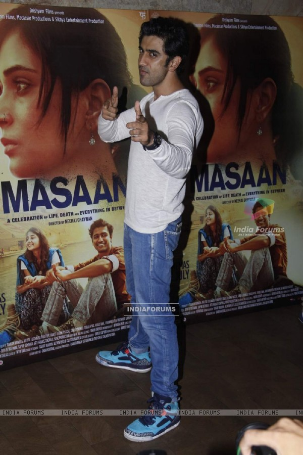 Amit Sadh at Special Screening of Masaan