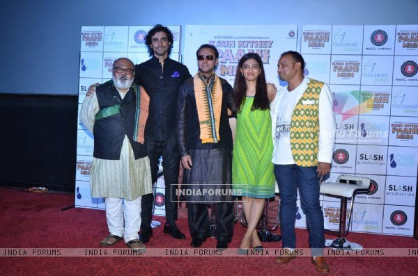 Whole Team of Kaun Kitney Paani Mein at Press Meet