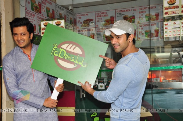 Riteish Deshmukh and Pulkit Samrat at Inaugration of Bangistan's Food Joint FC Donalds