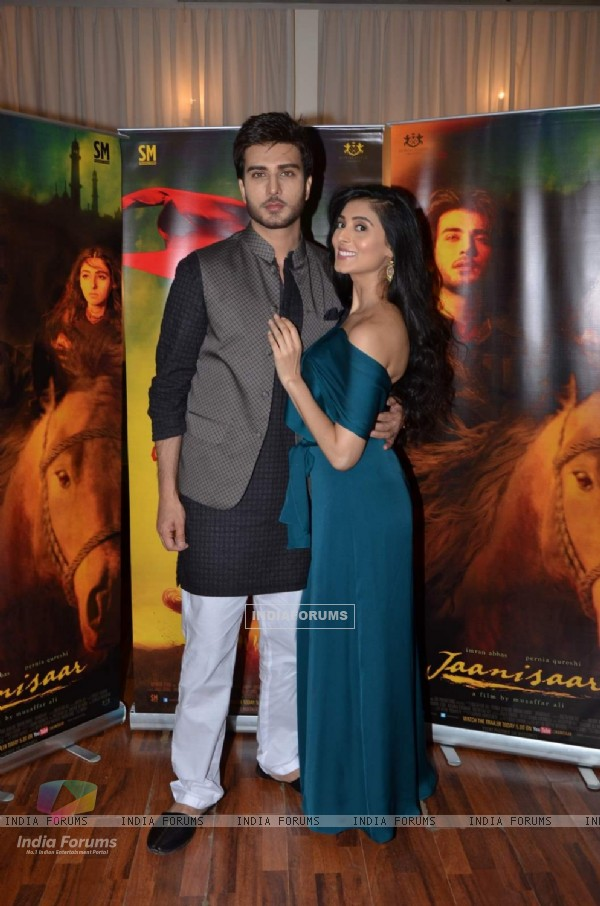 Imran Abbas and Pernia Qureshi at Press Meet of Jaanisaar