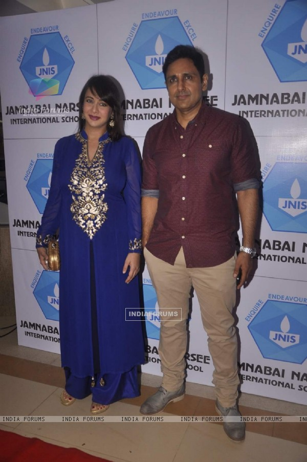 Parven Dabas and Preeti Jhangiani at  Inauguration of Jamnabai Narsee International School