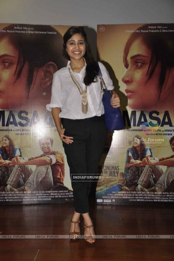 'Cute Looking' Shweta Tripathi at Promotions of Masaan
