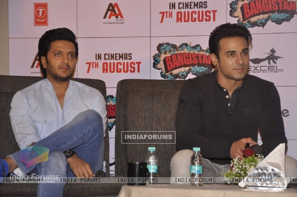 Riteish Deshmukh and Pulkit Samrat  for Promotions of Bangistan