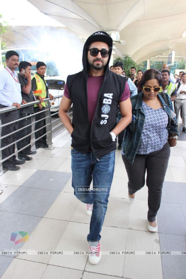 Ayushmann Khurrana Snapped at Airport