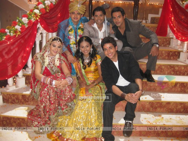 Romit and Shilpa with the three brothers, and Suhani..