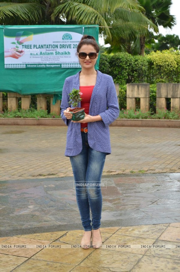 Monica Bedi at Tree Plantation Event