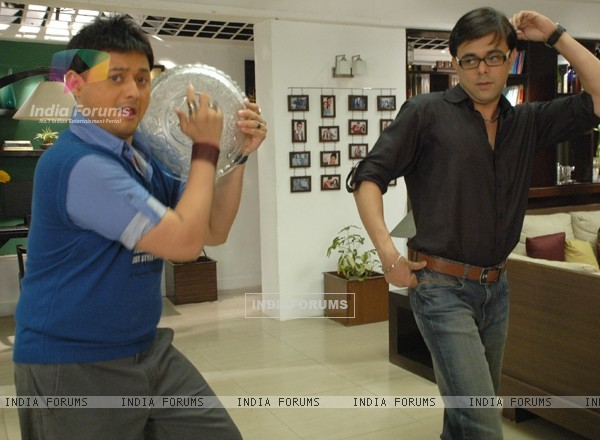 Rajdeep and Kapil practise dance