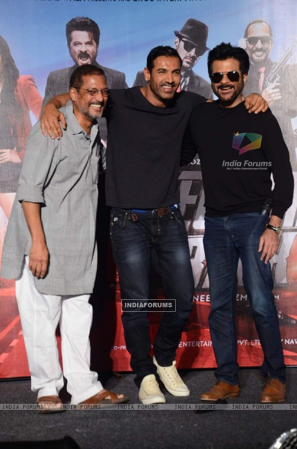 Nana, John and Anil at Title Song Launch of Welcome Back
