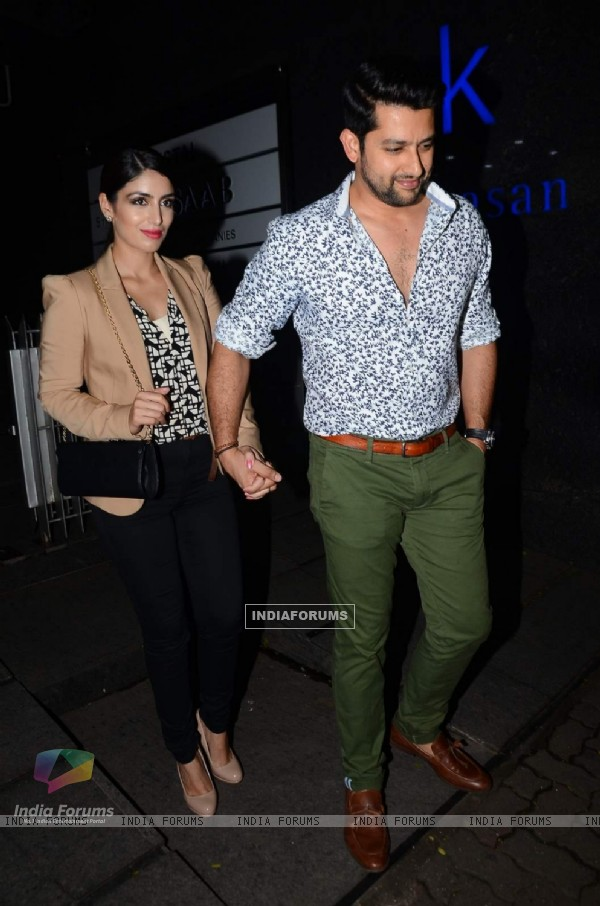 Aftab Shivdasani and Nin Dusanj at Bipasha Basu's Bash