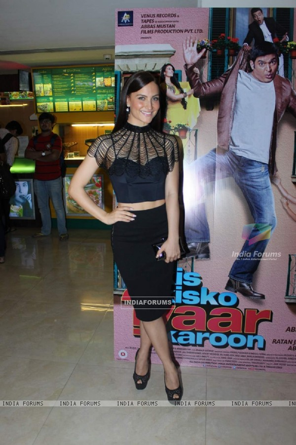 Elli Avram at Trailer Launch of Kis Kisko Pyaar Karoon