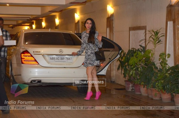 Karisma Kapoor at Saif Ali Khan's Birthday Bash