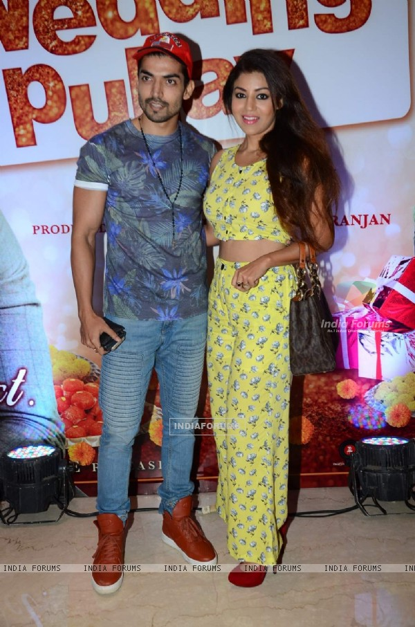 Gurmeet Choudhay and Debina Bonerjee at Trailer Launch of the film Wedding Pulav