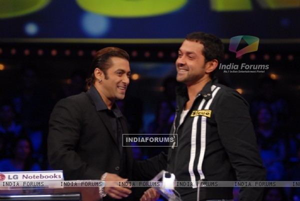 Salman Khan with Bobby Deol
