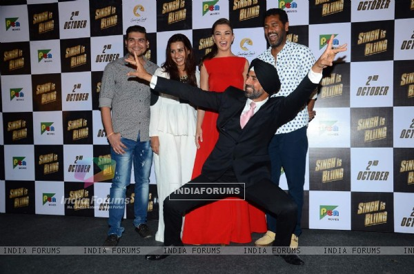 Akshay Kumar at and Prabhudeva and Amy Jackson at Trailer Launch of Singh is Bliing