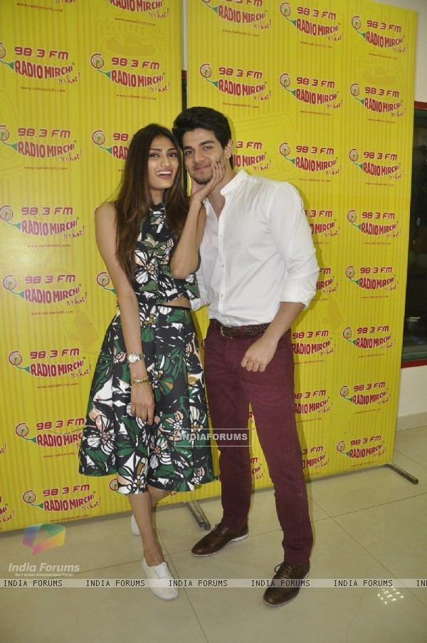 Couple in the Film Hero - Athiya Shetty and Sooraj Pancholi for Promotions of Hero at Radio Mirchi