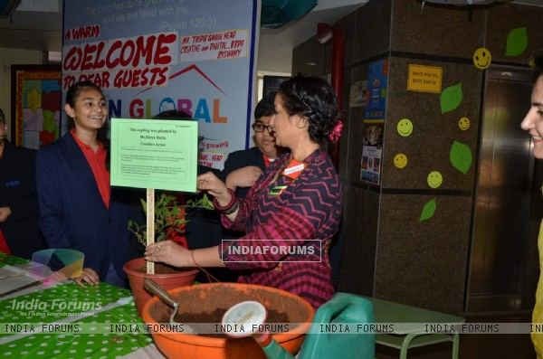 Divya Dutta at Ryan International School