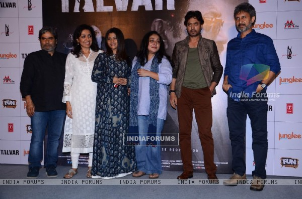 Vishal Bhardwaj, Konkona Sen, Irrfan Khan and Neeraj Kabi at  Trailer Launch of Talvar