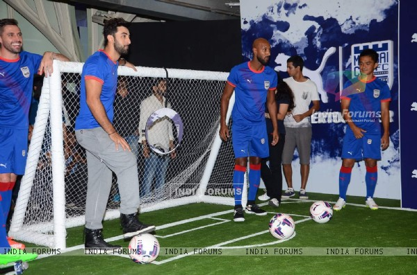 Ranbir Kapoor at Mumbai FC Tee Launch