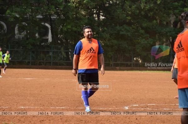 Raj Kundra Snapped Practicing Soccer!