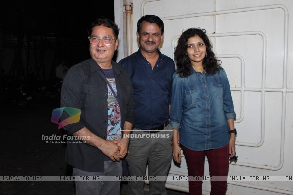 Vinayak Pathak, Girish Kulkarni and Mukta Barve at Screening of Marathi Movie 'Highway'