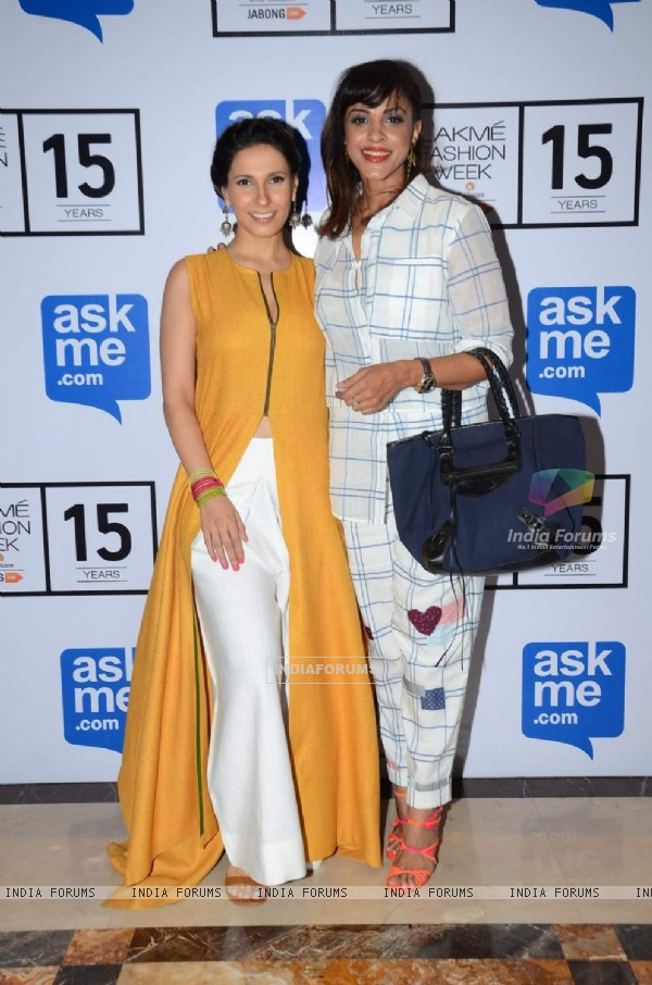 Ramona Arena and Manasi Scott at Lakme Fashion Week