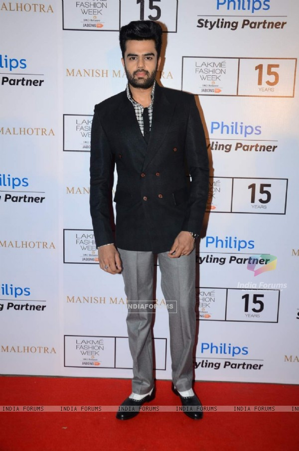 Manish Paul at Lakme Fashion Week
