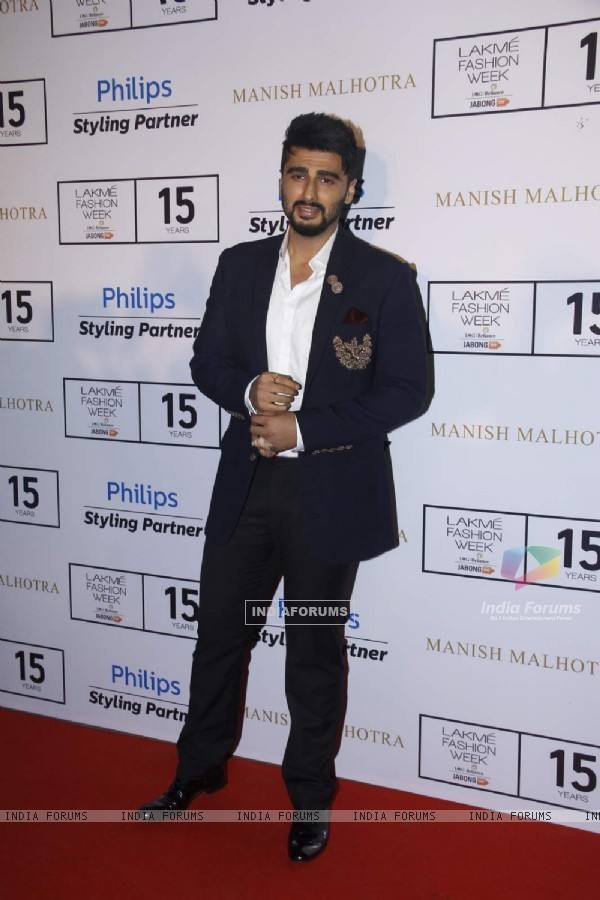 Arjun Kapoor at Lakme Fashion Week